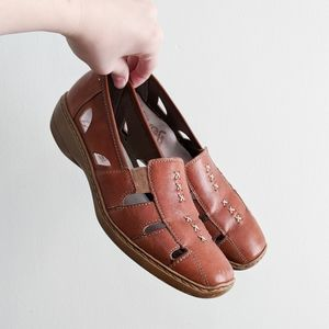 Rieker Antistress Leather Comfort Loafer w Cutouts